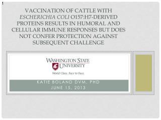 Katie Boland DVM, PhD June 15, 2013
