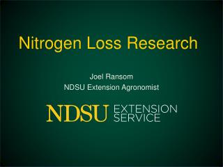 Nitrogen Loss Research