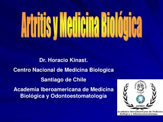 Artritis y Medicina Biol gica