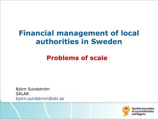 Financial management of local authorities in Sweden