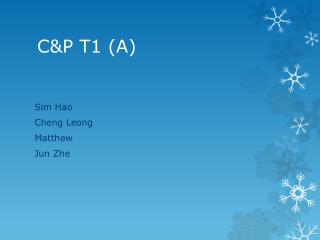C&P T1 (A)