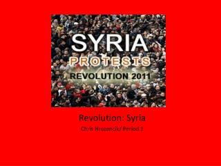 Revolutions: Syria