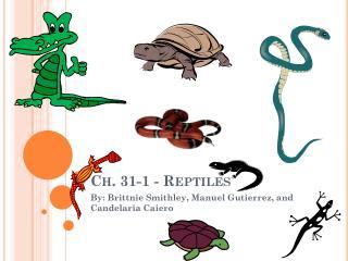 Ch. 31-1 - Reptiles