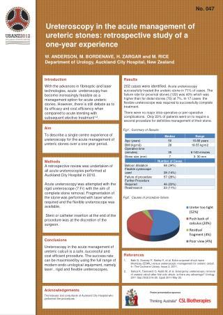 Ureteroscopy in the acute management of ureteric stones: retrospective study of a