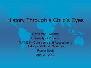 History Through a Child s Eyes