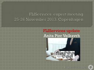 FLIServices   expert  meeting 25-26 November  2013, Copenhagen
