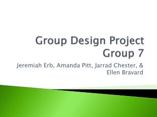 Group Design Project Group 7