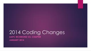 2014 Coding Changes