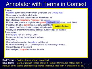 Annotator with Terms in Context