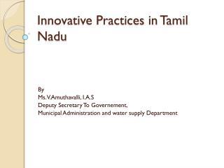 Innovative Practices in Tamil Nadu