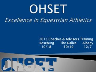 OHSET Excellence in Equestrian Athletics