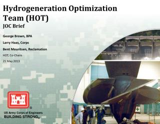 Hydrogeneration Optimization Team (HOT) JOC Brief