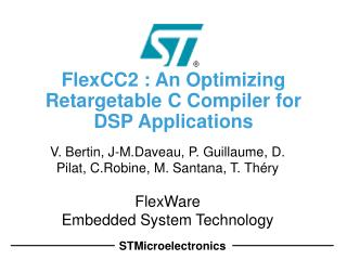 FlexCC2 : An Optimizing Retargetable C Compiler for DSP Applications
