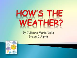By Julianne Marie Vella Grade 5 Alpha