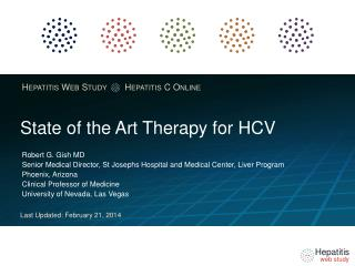 State of the Art Therapy for HCV