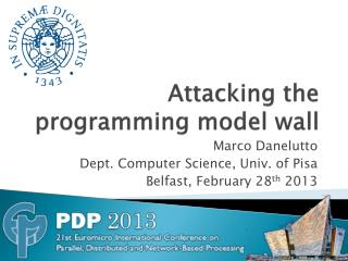 Attacking the programming model wall