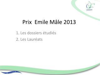 Prix  Emile Mâle 2013