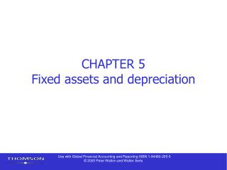 CHAPTER 5 Fixed assets and depreciation
