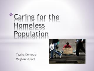 Caring for the Homeless Population