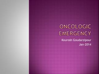 Oncologic emergency
