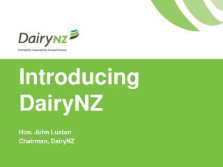 Introducing DairyNZ