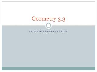 Geometry 3.3