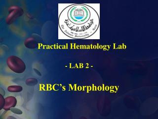 RBC's Morphology