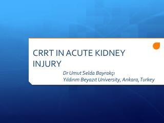 CRRT IN ACUTE KIDNEY INJURY