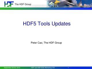 HDF5 Tools Updates