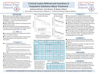 Criminal Justice Referral and Incentives in Outpatient Substance Abuse Treatment
