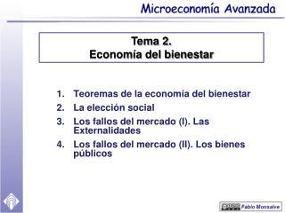 Teoremas de la economía del bienestar La elección social