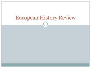 European History Review