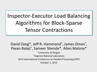 Inspector-Executor Load Balancing Algorithms for Block-Sparse  Tensor Contractions