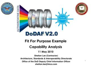 Fit For Purpose Example Capability Analysis  11 May 2010