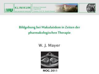 Bildgebung bei Makulaödem in Zeiten der pharmakologischen Therapie