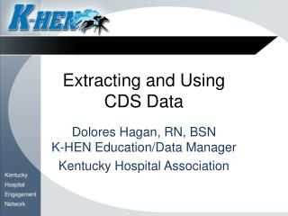 Extracting and Using  CDS Data