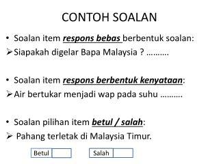 CONTOH SOALAN