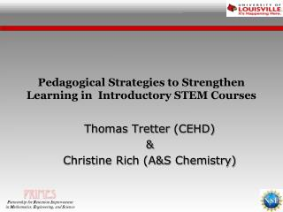 Pedagogical Strategies to Strengthen Learning in  Introductory STEM Courses