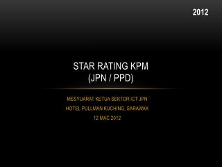 STAR RATING KPM (JPN / PPD)