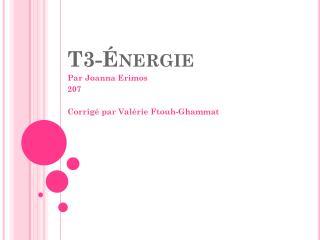 T3-�nergie