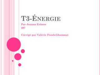 T3-Énergie