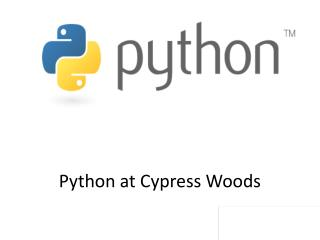 Python at Cypress Woods