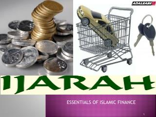 ESSENTIALS OF ISLAMIC FINANCE