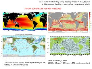 N.  Maximenko : Satellite  ocean surface currents and winds