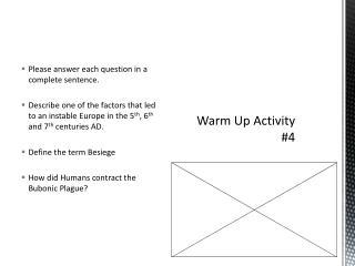 Warm Up Activity #4