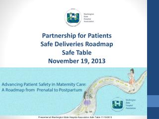 Partnership for Patients Safe Deliveries Roadmap Safe Table  November 19, 2013