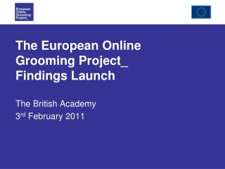 The European Online Grooming Project Findings Launch