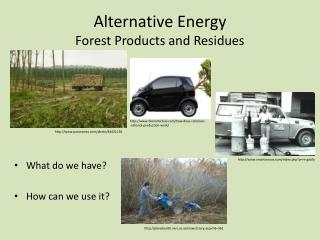 Alternative Energy  Forest Products and Residues