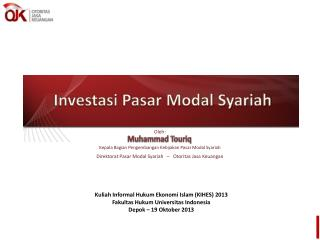 investasi di pasar modal indonesia