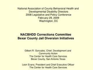 National Association of County Behavioral Health and  Developmental Disability Directors